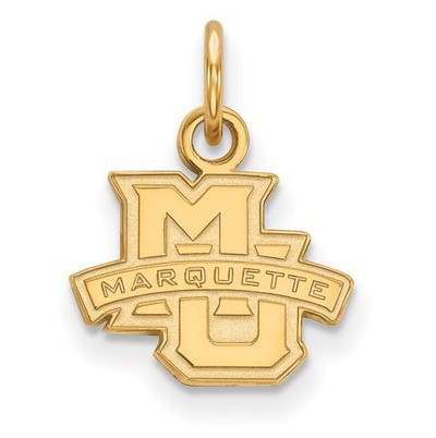 Marquette University 14k Yellow Gold Extra Small Pendant | Logo Art | 4Y001MAR