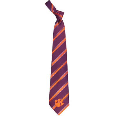 Clemson Tigers Woven Poly Tie | Eagles Wings | 6202