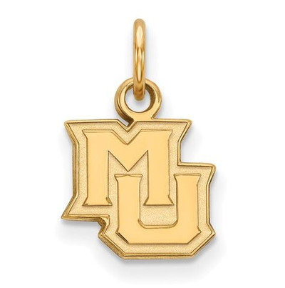 Marquette University Golden Eagles Sterling Silver Gold Plated Extra Small Pendant | Logo Art | GP014MAR