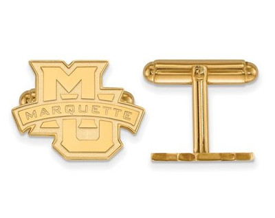 Marquette University 14k Yellow Gold Cufflinks | Logo Art | 4Y029MAR