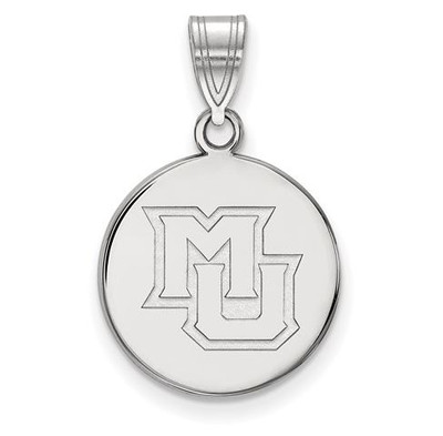 Marquette University 10k White Gold Medium Disc Pendant | Logo Art | 1W022MAR