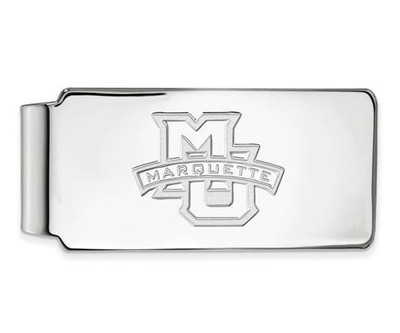 Marquette University 14k White Gold Money Clip | Logo Art | 4W009MAR