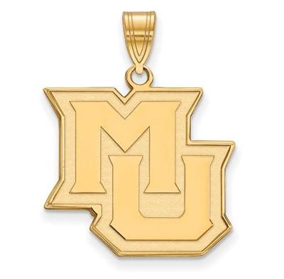 Marquette University Golden Eagles 14k Yellow Gold Large Pendant | Logo Art | 4Y016MAR
