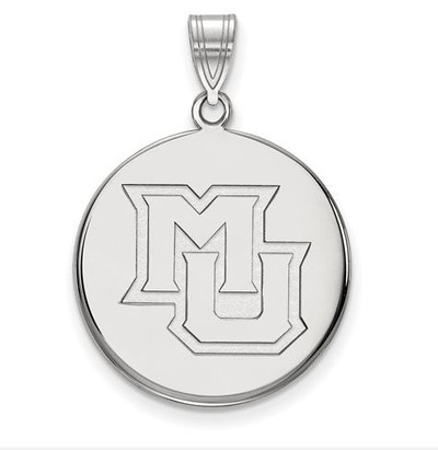 Marquette University 14k White Gold Large Disc Pendant | Logo Art | 4W024MAR