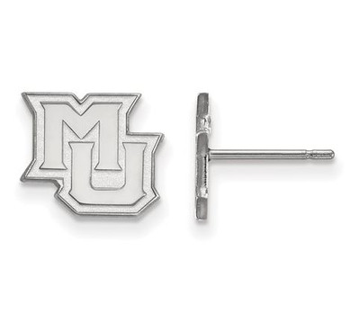 Marquette University 14k White Gold Extra Small Post Earrings | Logo Art | 4W018MAR