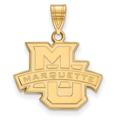 Marquette University 14k Yellow Gold Medium Pendant | Logo Art | 4Y003MAR