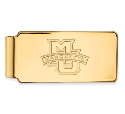 Marquette University 14k Yellow Gold Money Clip | Logo Art | 4Y009MAR