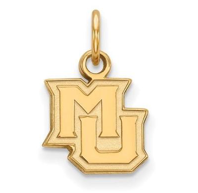 Marquette University Golden Eagles 14k Yellow Gold Extra Small Pendant | Logo Art | 4Y014MAR