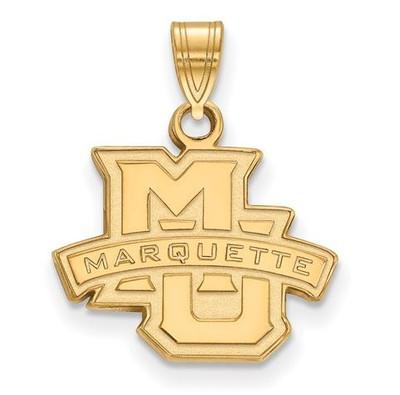 Marquette University Golden Eagles 14k Yellow Gold Small Pendant | Logo Art | 4Y002MAR