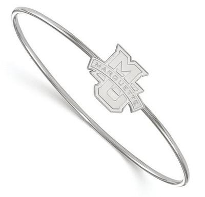 Marquette University Sterling Silver Bangle Slip on Bracelet | Logo Art | SS006MAR-6