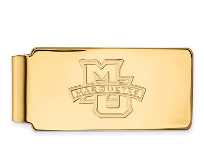 Marquette University 10k Yellow Gold Money Clip | Logo Art | 1Y009MAR