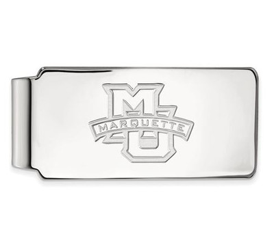 Marquette University 10k White Gold Money Clip | Logo Art | 1W009MAR