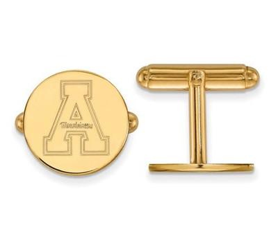 Appalachian State University Sterling Silver Gold Plated Cufflinks | Logo Art | GP010APS