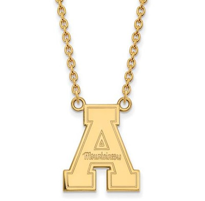 Appalachian State University 14k Yellow Gold Large Pendant Necklace | Logo Art | 4Y012APS-18