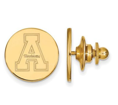 Appalachian State University Sterling Silver Gold Plated Lapel Pin | Logo Art | GP009APS