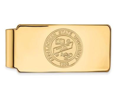 Appalachian State University 10k Yellow Gold Crest Money Clip   Logo Art   1Y023APS