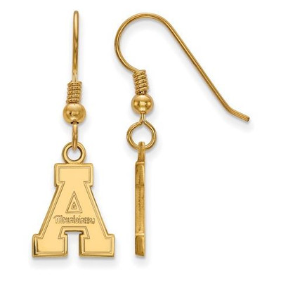 Appalachian State University Sterling Silver Gold Plated Small Dangle Earrings | Logo Art | GP006APS
