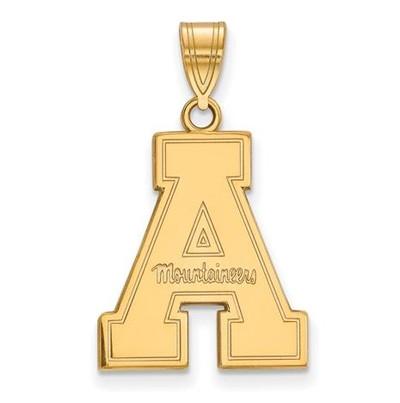 Appalachian State University 10k Yellow Gold Large Pendant   Logo Art   1Y004APS
