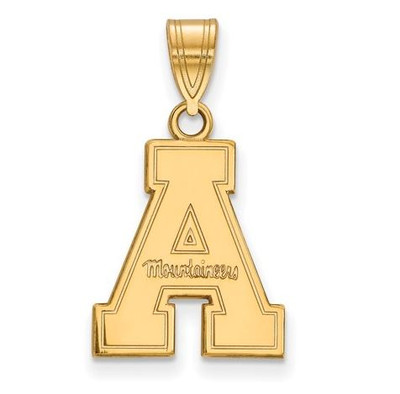 Appalachian State University Mountaineers 10k Yellow Gold Medium Pendant   Logo Art   1Y003APS