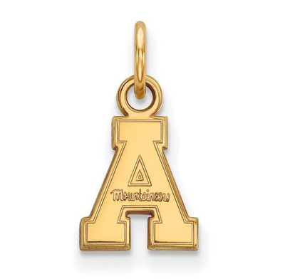 Appalachian State University Sterling Silver Gold Plated Extra Small Pendant | Logo Art | GP001APS