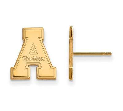 Appalachian State University 10k Yellow Gold Small Post Earrings   Logo Art   1Y008APS