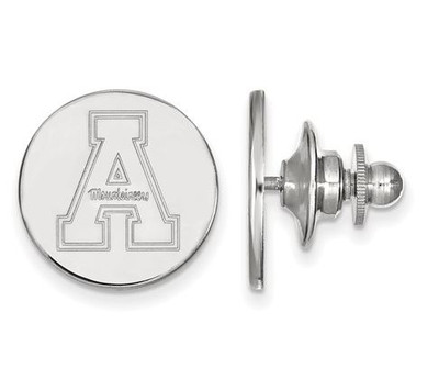 Appalachian State University 14k White Gold Lapel Pin   Logo Art   4W009APS
