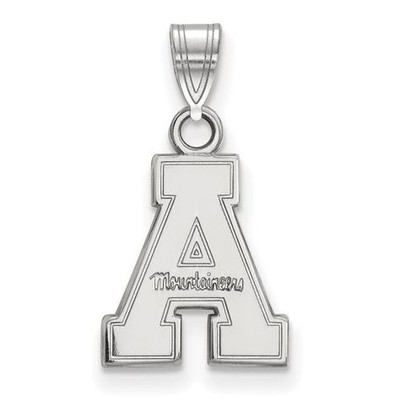 Appalachian State University 10k White Gold Small Pendant   Logo Art   1W002APS