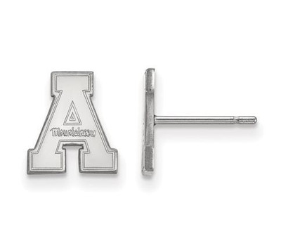 Appalachian State University 10k White Gold Extra Small Post Earrings | Logo Art | 1W007APS