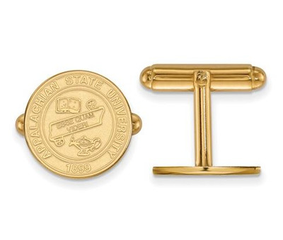 Appalachian State University 14k Yellow Gold Crest Cuff Links | Logo Art | 4Y022APS
