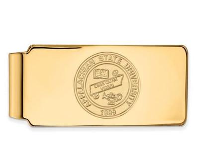 Appalachian State University 14k Yellow Gold Crest Money Clip   Logo Art   4Y023APS