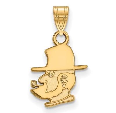 Appalachian State University 10k Yellow Gold Small Pendant   Logo Art   1Y015APS