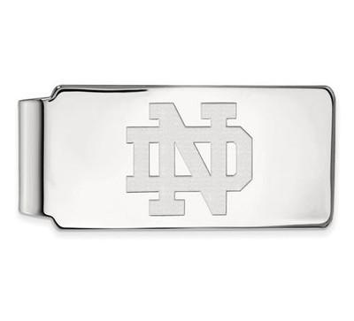 University of Notre Dame Sterling Silver Money Clip   Logo Art   SS024UND