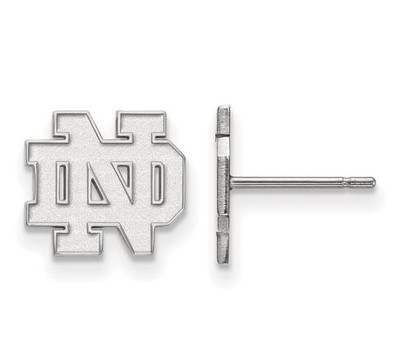 University of Notre Dame Sterling Silver Extra Small Post Earrings | Logo Art | SS008UND
