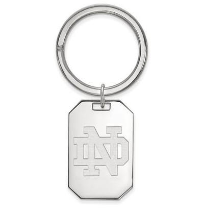 University of Notre Dame Sterling Silver Key Chain | Logo Art | SS025UND