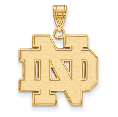 University of Notre Dame Fighting Irish Gold Plated Sterling Silver Large Pendant | Logo Art | GP004UND