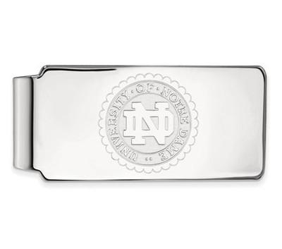 University of Notre Dame Sterling Silver Crest Money Clip   Logo Art   SS024UND