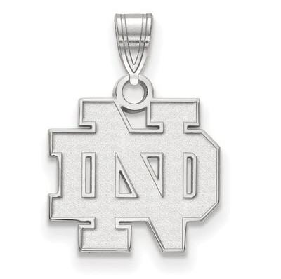 Notre Dame Fighting Irish Sterling Silver Small Pendant | Logo Art | SS002UND