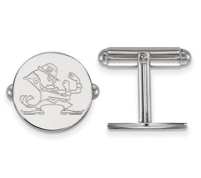 University of Notre Dame Fighting Irish Sterling Silver Cufflinks | Logo Art | SS044UND