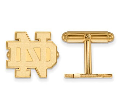 University of Notre Dame Gold Plated Sterling Silver Cufflinks | Logo Art | SS044UND