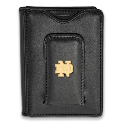 University of Notre Dame Gold Plated Sterling Silver Leather Attachment   Logo Art   GP012UND-W1