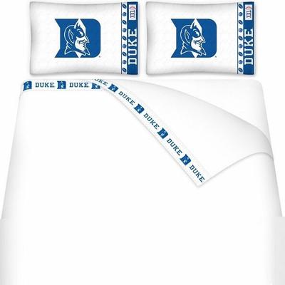 Duke Blue Devils Microfiber Sheet Set   Sports Coverage   04MFSHS4DUK