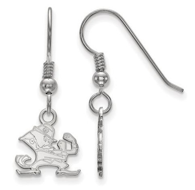 University of Notre Dame Fighting Irish Sterling Silver Extra Small Wire Dangle Earrings | Logo Art | SS048UND