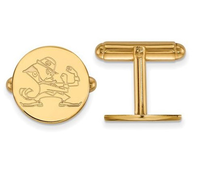University of Notre Dame Fighting Irish Gold Plated Sterling Silver Cufflinks | Logo Art | GP054UND