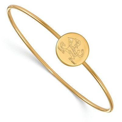 University of Notre Dame Gold Plated Sterling Silver Bracelet | Logo Art | GP052UND-7