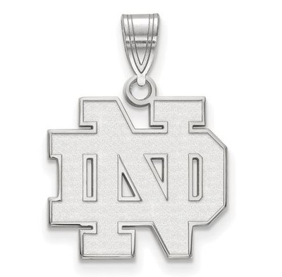 Notre Dame Fighting Irish Sterling Silver Medium Pendant | Logo Art | SS003UND