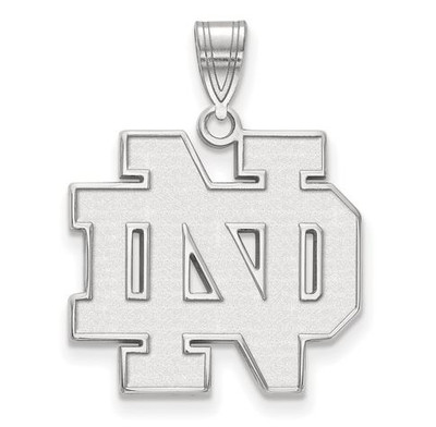Notre Dame Fighting Irish Sterling Silver Large Pendant | Logo Art | SS004UND