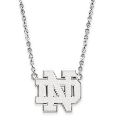 University of Notre Dame Fighting Irish Sterling Silver Large Pendant Necklace | Logo Art | SS016UND-18