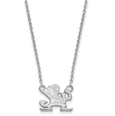 University of Notre Dame Fighting Irish Sterling Silver Small Pendant Necklace | Logo Art | SS057UND-18