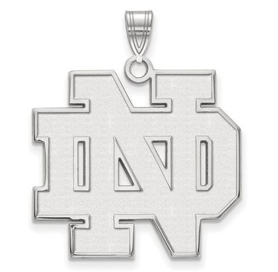 University of Notre Dame Fighting Irish Sterling Silver Extra Large Pendant | Logo Art | SS005UND