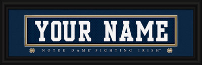 Notre Dame Fighting Irish Personalized Jersey Stitch Print | Get Letter Art | CSUL1B06NOTR